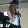 Avril Lavigne look-a-like on stage at event