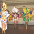 Carmen Miranda character & our Brazlian dancers