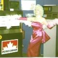 Marilyn Monroe look-a-like promoting Petro Canada