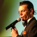 Frank Sinatra impersonator performs Herbal Magic event