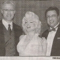 Marilyn Monroe impersonator with Toronto Sun President at event