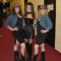 Shania tribute backstage at Fallsview Casino with backup singers