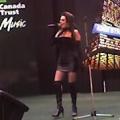 Zahava as Shania at TD Canada Trust event