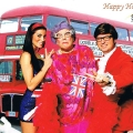 Austin Powers and Dame Edna Impersonators