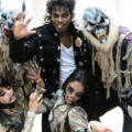 Michael Jackson tribute act with his dancers at event