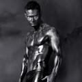 Airbrush male model - Live statue