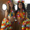 Hawaiian theme promo girls